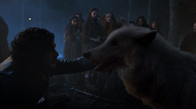 File:S04E5 - Jon Snow & Ghost.png