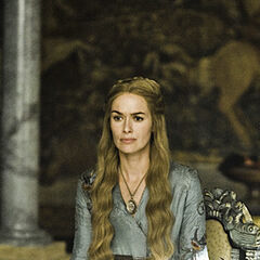 Cersei in the Small Council chamber in
