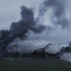 Замок у вогні.