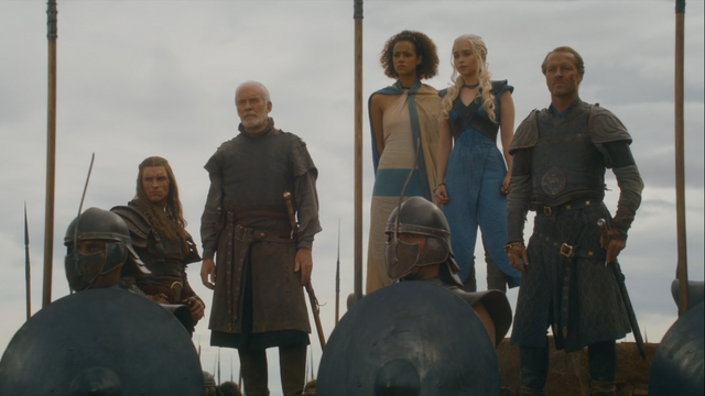 File:Barristan waiting with daenerys and co.png