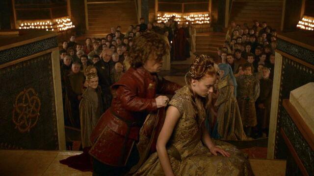File:308 Tyrion cloaking Sansa.jpg