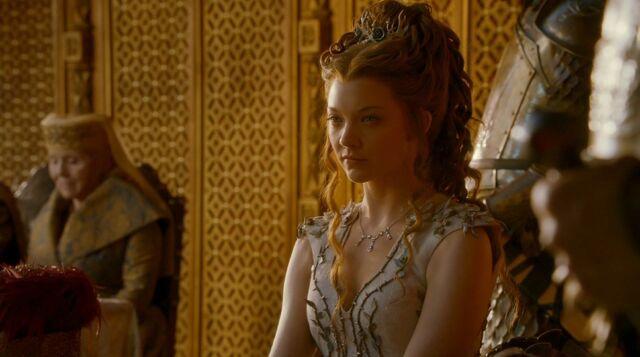 File:Margaery at Purple Wedding feast.jpg