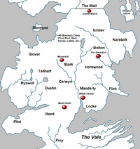 Political map of the North