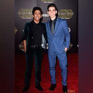 Karan Brar and Cameron Boyce