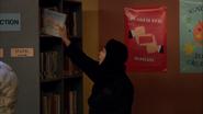 Season 1, Episode 2 - Wendell sneaking book on shelf