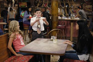 Season 1, Episode 6 - Franklin, Ashley, and Wendell's girlfriend at table