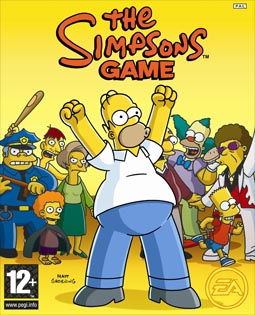 The Simpsons Game XBOX 360 Cover