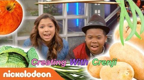 Game Shakers Creating w Crenji DIY Vegetable Woman Craft Nick