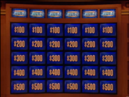 Jeopardy! sushi bar-era game board