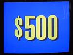 Jeopardy! 1991-1996 set $500 figure