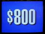 Jeopardy! 1991 $800 dollar figure