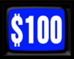 Jeopardy! 1984-1985 $100 Dollar Figure