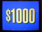 Jeopardy! 1991-1996 set $1,000 figure