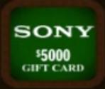 Sony Gift Card ($5000)
