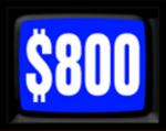Jeopardy! 1984-1985 $800 Dollar Figure