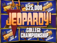 Jeopardy! 1993 College Championship title card