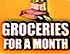 Groceries For A Month