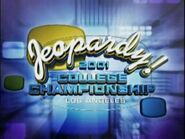 Jeopardy! Season 18 College Championship Title Card