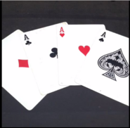 Top card aces