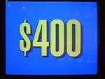 Jeopardy! 1991-1996 set $400 figure