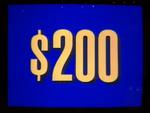 Jeopardy! 1996-2001 $200 dollar figure