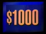 Jeopardy! first bordered $1,000 dollar figure