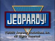 Jeopardy! 1993 copyright card