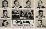 Quiz kids 1940s card