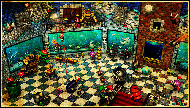 File:Super mario 64 jolly roger bay room by robbienordgren-d4onbrg.jpg