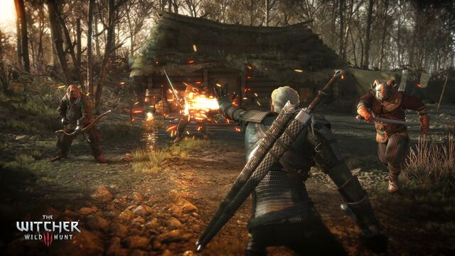 File:The Witcher 3 Wild Hunt-Geralt torching his enemies.jpg
