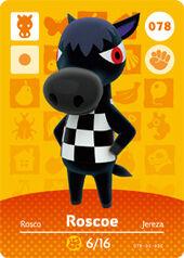 Amiibo AC Roscoe card