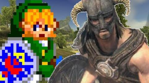 Link Vs. Dragonborn- Gaming All Star Rap Battles 04-0