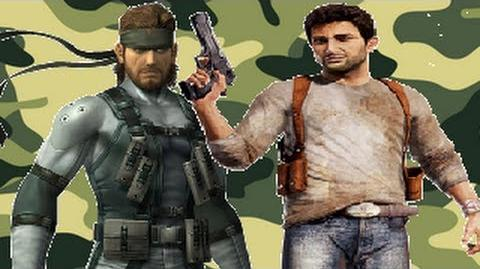 Nathan Drake Vs Solid Snake- Gaming All Star Rap Battles 06-0