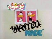 Wanted Wade