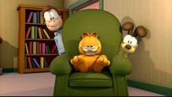 Jon With Garfield And Odie