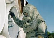 M40 Gas Mask With Toxicological Agent Protective (T.A.P.) Hood And Apron