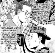 Tozu and Sasagawa from Itami's musing manga Chapter 38 page 37