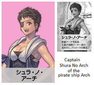 Shura No Arch is the captain of pirate ship Arch