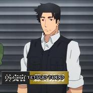 Diplomat Tetsuo Todo cropped sceen Anime Episode 11