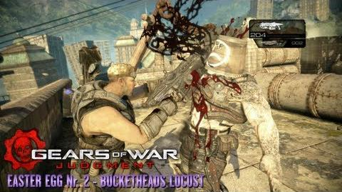 Gears of War Judgment - Easter Egg 2 - Bucketheads Locust