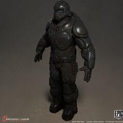 Modelo 3D de un Guardia Onyx.
