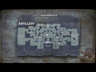 Artillery map