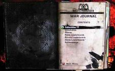 War journal (Index)