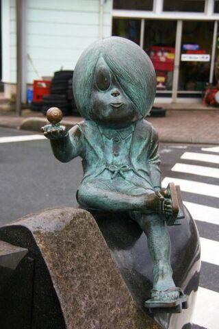 File:Kitarou and Medama Oyaji statue.jpg