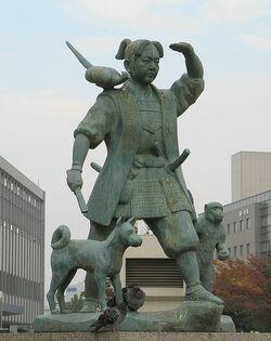 Momotaro-statue