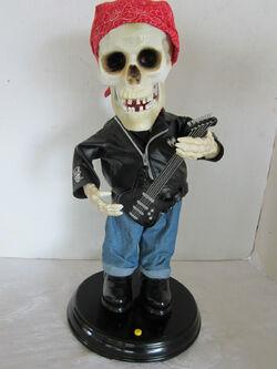 Gemmy La garnge ZZ top rock n roll skeleton