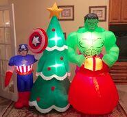 Gemmy Prototype Christmas Avengers Captain America Hulk Inflatable Airblown