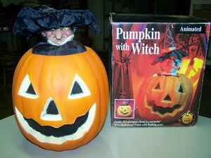 Gemmy Halloween Animated pumpkin with witch