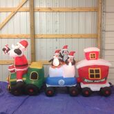 Gemmy inflatable santa and friends on christmas train