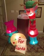 Gemmy Prototype Christmas Trolls Inflatable Airblown